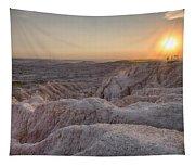 Badlands Overlook Sunset Tapestry