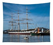 Rowing Past Balclutha And Steamship Eppleton Hall Tapestry