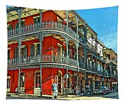 Balconies Painted Tapestry