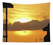 Key West Balcony Sunset Tapestry