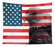 Bald Eagle American Flag Tapestry