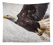 Bald Eagle Fly By Tapestry