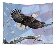 Bald Eagle Touch Of Pride Tapestry