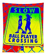 Ball Player Crossing Tapestry