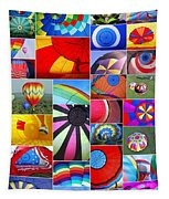 Balloon Fantasy Collage Tapestry