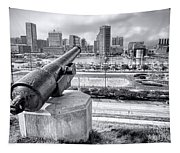 Baltimore Inner Harbor Skyline Tapestry