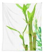 Bamboo Stems And Leaves Tapestry
