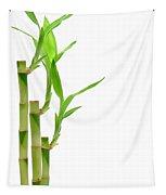 Bamboo Stems In Black Vase Tapestry