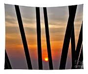 Bamboo Sunset Tapestry