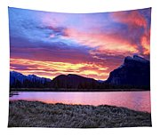 Banff Sunrise Six Minutes Later Tapestry