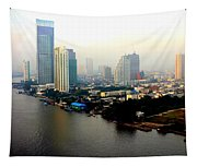 Bangkok In Early Morning Light Tapestry