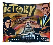 Barack And Russell Simmons Tapestry