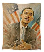 Barack Obama Taking It Easy Tapestry