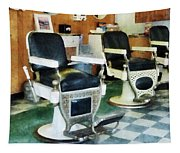 Barber - Corner Barber Shop Tapestry