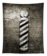 Barber Pole Black And White Tapestry