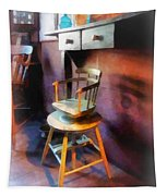 Barber - Vintage Child's Barber Chair Tapestry