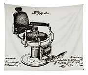 Barbershop Chair Patent Tapestry