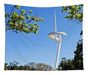 Barcelona Tv Tower/sun Dial Tapestry
