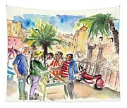 Bargaining Tourists In Siracusa Tapestry