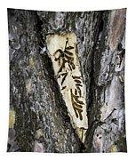 Bark Tattoo Tapestry