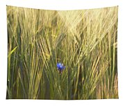 Barley And Corn Flowers In The Field Tapestry