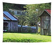 Barn And Chicken Coop Tapestry