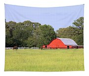 Barn And Pasture Tapestry