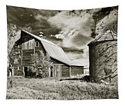 Barn And Silo Tapestry