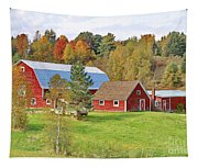 Barn In Autumn Tapestry