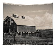 Barn In Polaroid Tapestry