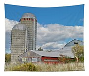 Barn In The Clouds Tapestry