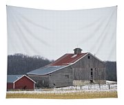 Barn In The Field Tapestry