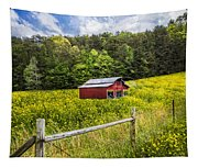 Barn In The Meadow Tapestry