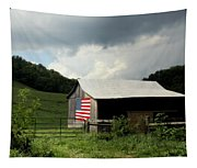 Barn In The Usa Tapestry