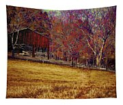 Barn In The Woods-featured In Barns Big And Small Group Tapestry