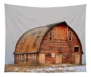 Barn On The Hill Tapestry