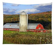 Barn On The River Rd. Tapestry