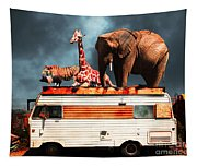 Barnum And Bailey Goes On A Road Trip 5d22705 Tapestry