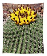 Barrel Cactus With Yellow Fruit Tapestry