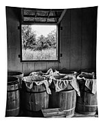 Barrels Of Beans - Bw Tapestry