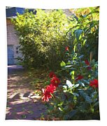 Bartram Red Flowers Tapestry