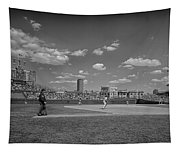 Baseball At Wrigley In The 1990s Tapestry