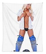 Baseball Girl Tapestry