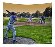 Baseball On Deck Circle Tapestry