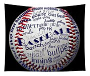 Baseball Terms Typography 1 Tapestry