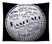 Baseball Terms Typography 2 Tapestry
