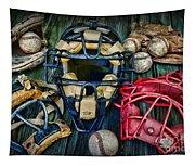 Baseball Vintage Gear Tapestry