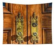 Basilica Door Knobs Tapestry