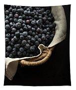 Basket Full Fresh Picked Blueberries Tapestry