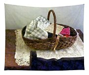 Basket With Cloth And Measuring Tape Tapestry
